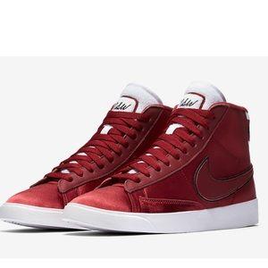 Nike blazer mid premium red white shoes